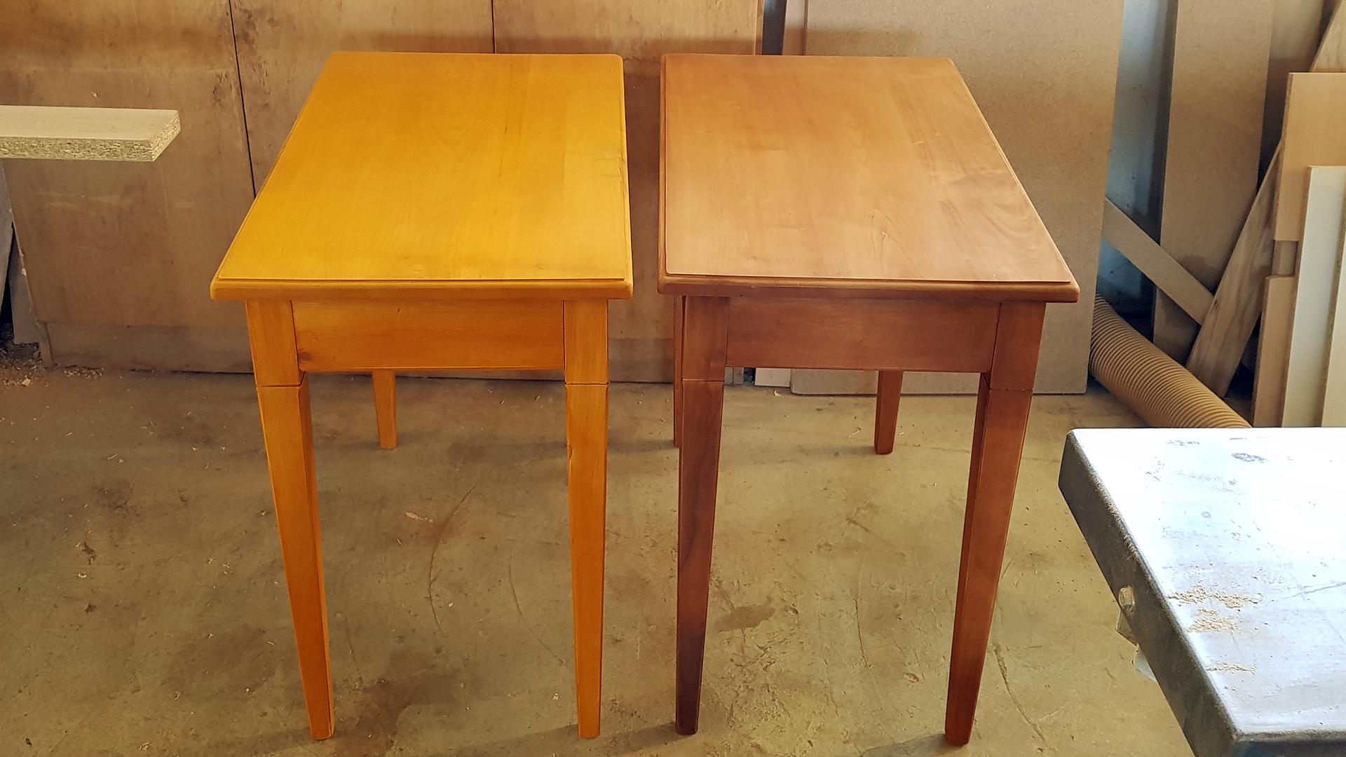 Atelier de fabrication des meubles : réalisation de tables